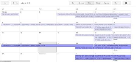 Calendario de competiciones internacional y nacional, 26 al 28 de abril