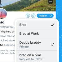 Twitter está explorando formas de controlar quién puede ver nuestros tuits y una de ellas divide los perfiles en facetas