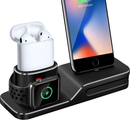 Base de carga para iPhone, Apple Watch y Airpods de oferta en Amazon México
