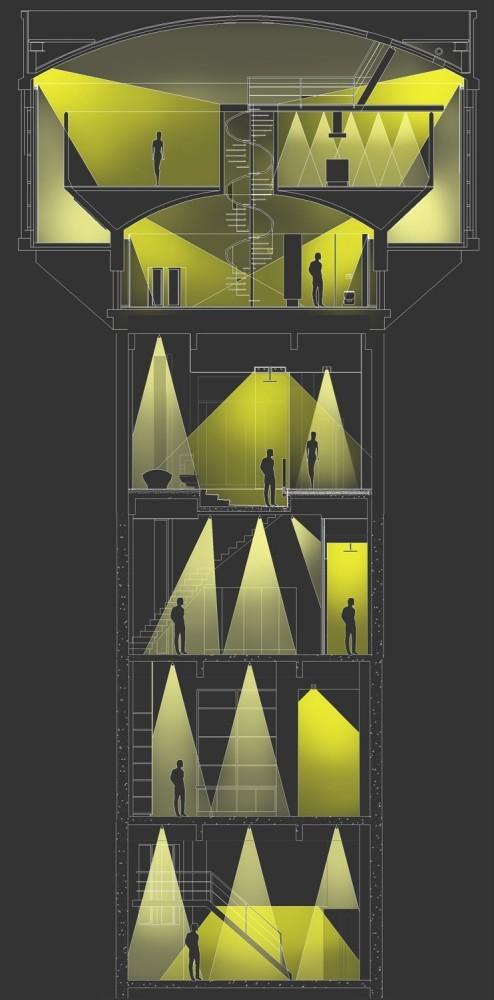 Foto de Casas poco convencionales: vivir en una torre de agua (34/35)