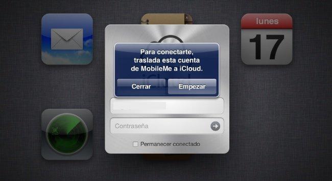 apple mobileme icloud cuentas