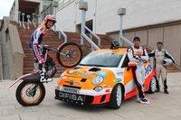 Toni Bou a los mandos del Fiat 500 propulsado por AutoGas