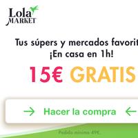 ¿Haces la compra en Carrefour, Mercadona o Día? Con Bnext, 15 euros de descuento en Lola Market