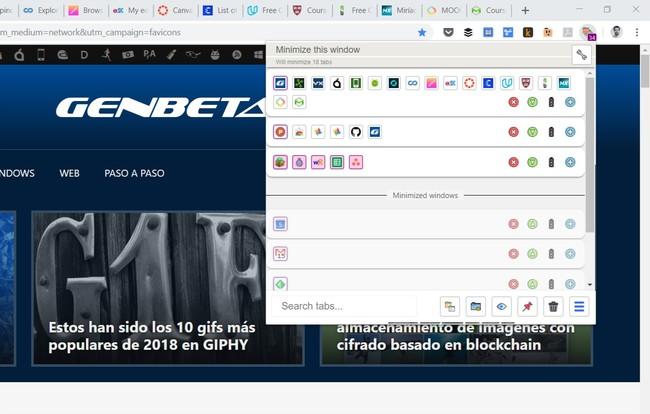 Tab Manager Plus, una completa extensión de Chrome para los que no pueden dejar de acumular pestañas