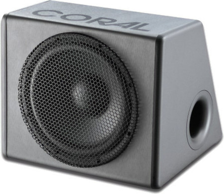 Subwoofer de car audio en caja bass reflex, Coral