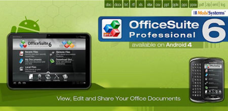 OfficeSuite Pro 6 para Android llega a Google Play