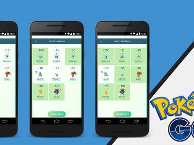 Pokémon GO te va a dejar transferir varios pokémon a la vez, y otros cambios