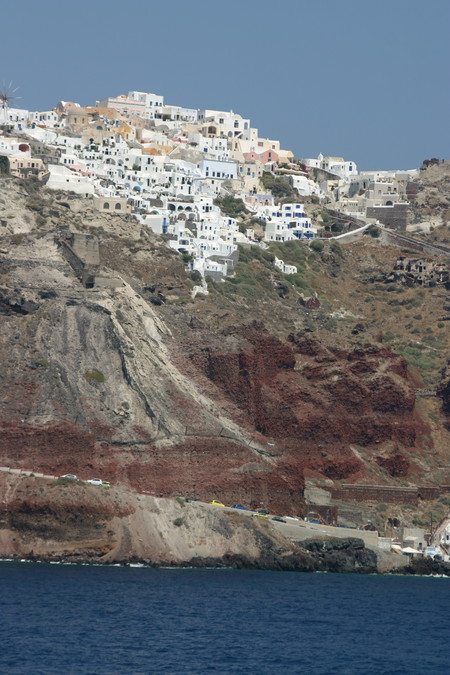 Houses On The Caldera Santorini