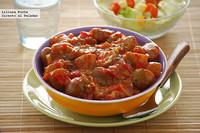 Patatas en salsa picantona. Receta de guarnición