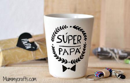 día del padre taza superpapás en mummy crafts