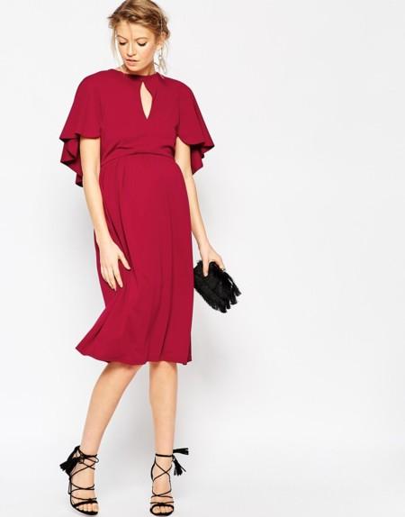 Vestido Rojo Premama Asos