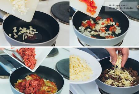nachos con carne