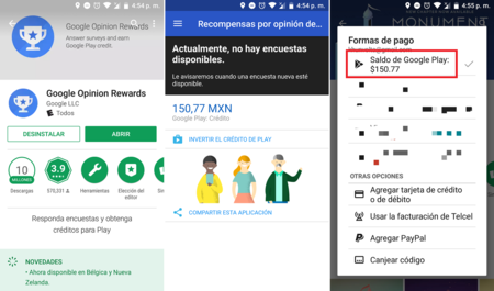Google Recompensas Saldo Google Play