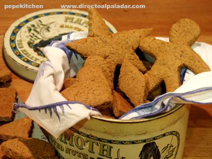 Galletas de pan de jengibre de Halloween. Receta paso a paso