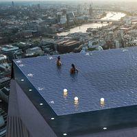 Será única en el mundo: Londres tendrá una piscina infinity 360º en lo alto de un rascacielos