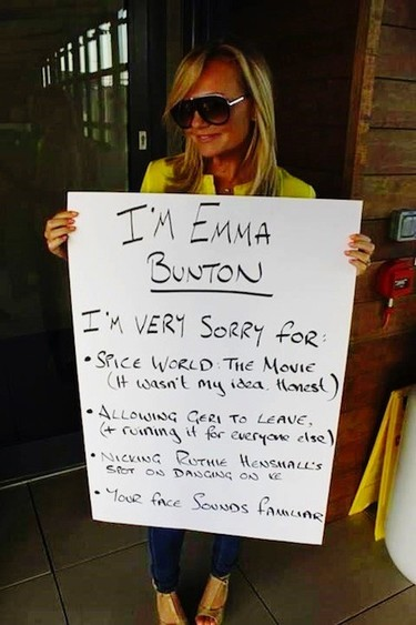 Emma Bunton está arrepentida de muchas cosas y sobre todo de la peli de las Spice Girls