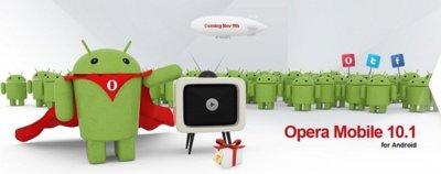 Opera Mobile para Android disponible el 9 de noviembre