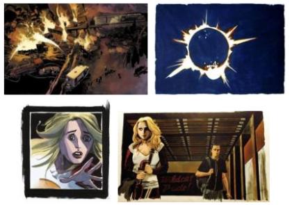 Los cuadros de Heroes, recopilados