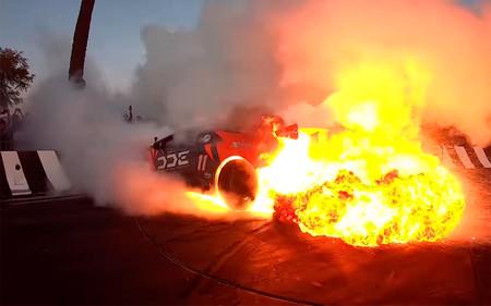 Niños y niñas, esto es lo que pasa cuando quemas rueda con tu Lamborghini Huracán y se te va de las manos