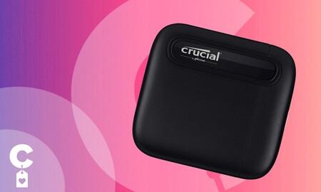 Este pequeño y fiable disco duro SSD portable cuesta muy poco en Amazon: Crucial X6 de 1 TB por 33 euros menos
