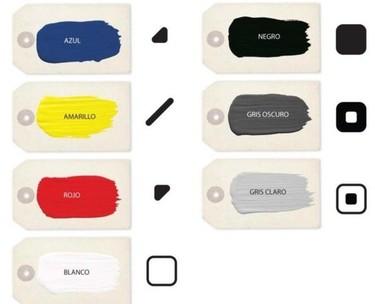 Código de colores para daltónicos en el catálogo de Valentine