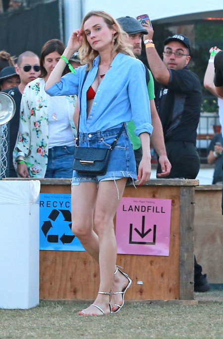 Diane Kruger Joshua Jackson Coachella 2015