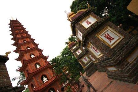 La Pagoda de Tran Quoc en Hanoi (Vietnam)