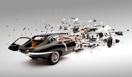 'Disintegrating': la deconstrucción de coches de Fabian Oefner