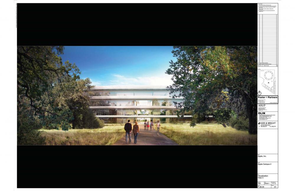 Foto de Proyecto original del nuevo campus de Apple (14/27)
