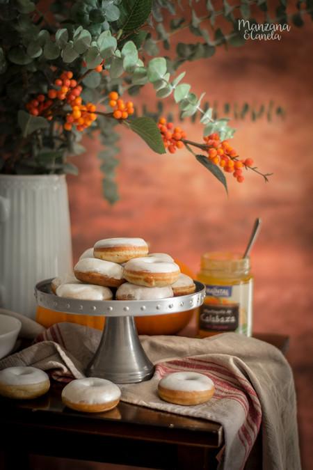 Mini Donuts De Calabaza Con Glaseado De Queso 7