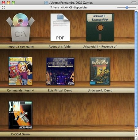 Biblioteca de juegos en Boxer