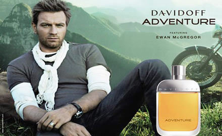 Ewan McGreggor para Adventure by Davidoff