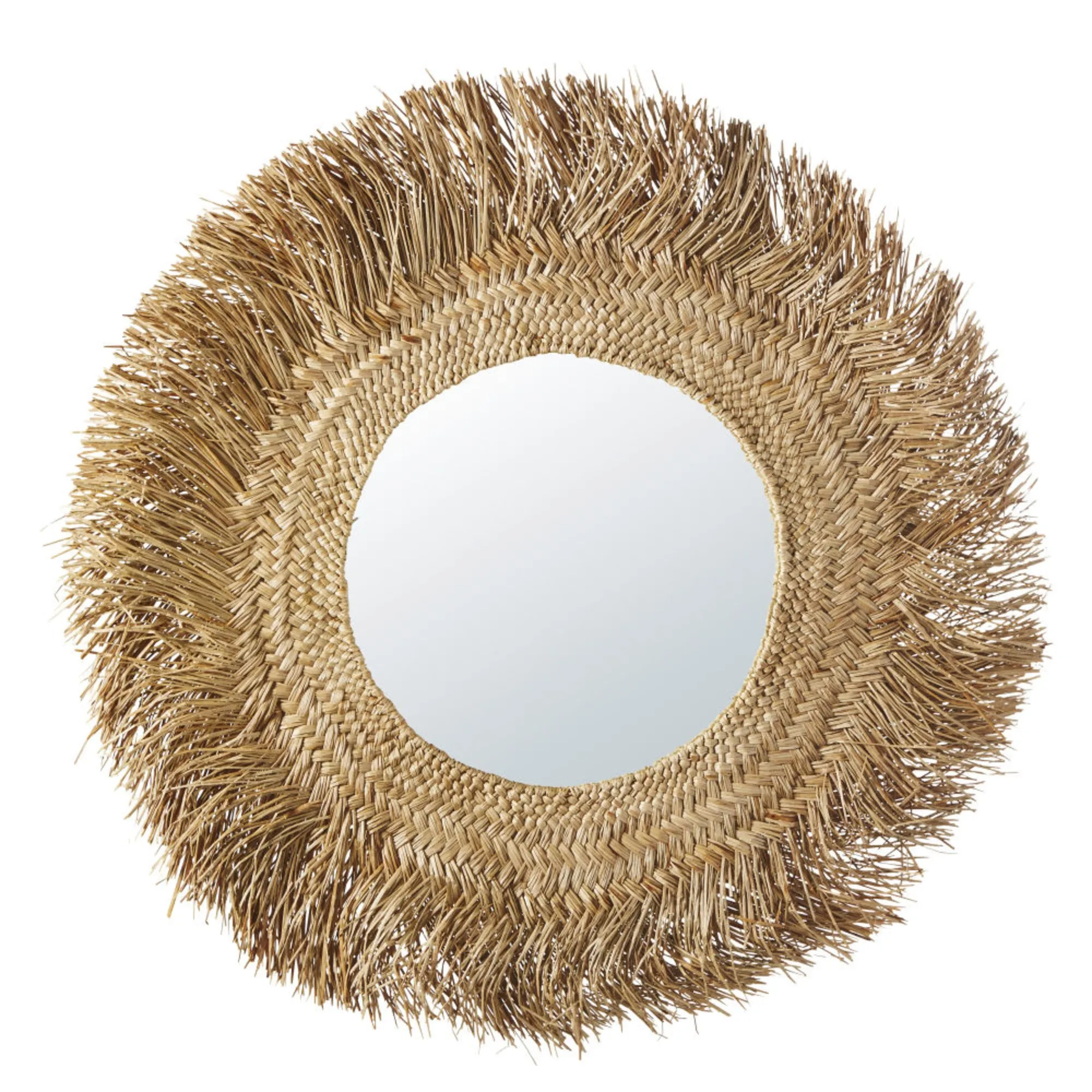 KINSHASA Espejo de fibra vegetal D.92