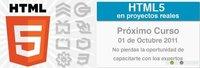 """Asiste al curso """"Proyectos reales con HTML5″"""
