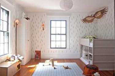 Una buena idea DIY: decora con stencil las paredes de la habitación infantil