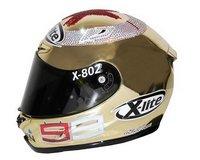Un casco de lujo (y muy hortera) para Jorge Lorenzo
