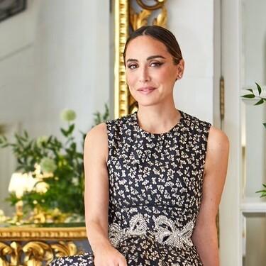 Tamara Falcó luce un precioso vestido midi con el que no solo ser la invitada perfecta, sino también la más elegante