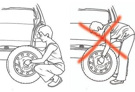 Cambiando una rueda