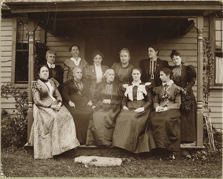 Susan B Anthony With Woman S Rights Leaders 1896