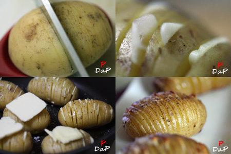 Pasos para hacer patatas hasselback
