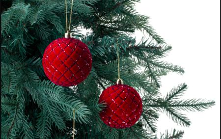 Sets 4 Bolas Flocadas De Rombos Glitter Navidad El Corte Ingles