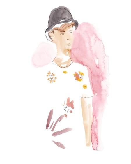 Francesco Lo Iacono Plasma En Acuarela Para Instagram Las Colecciones Top De Las Semanas De La Moda 2