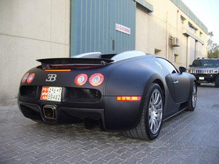 Negro mate: también para el Bugatti Veyron