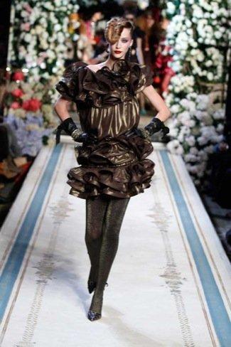 Lanvin HM, colección Alta Costura, vestido dorado
