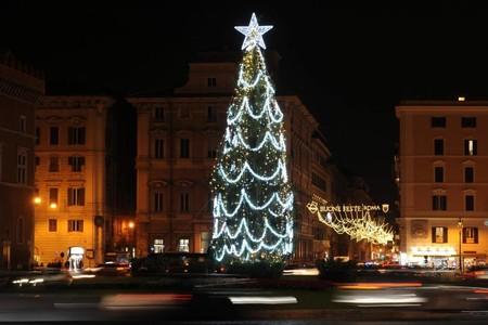 Arbol Navidad Luces Roma