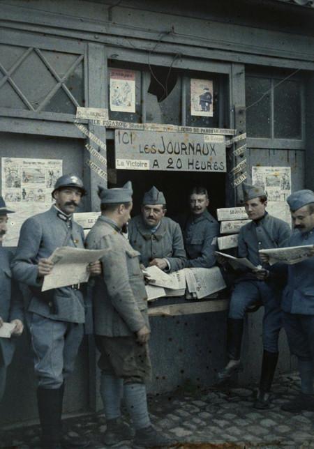 V Soldados En Rexpoede 1917