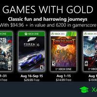 Juegos de Xbox Gold gratis para Xbox One y 360 de agosto 2019