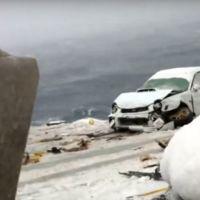 Cuando el mar se enfada es capaz de tragarse 52 coches de un único barco