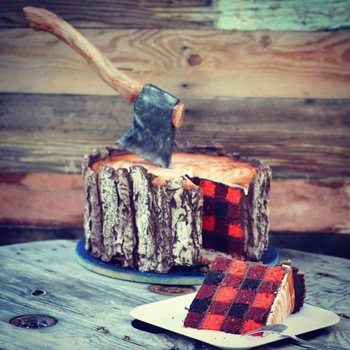 Tan solo para los expertos: tarta a cuadros tartán