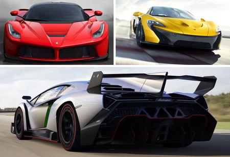 Ferrari LaFerrari, McLaren P1 y Lamborghini Veneno